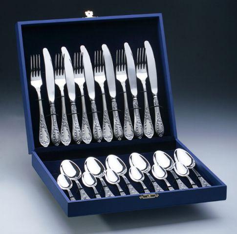 Набір столовий посріблений Срібна Поляна ROYAL 24 пр. в футлярі ... 7f75ecd409ff4