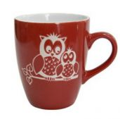 Горнятко Milika M0420-M3R Owl Family Red 400 мл
